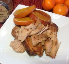 Slow Cooker Pork Chops with Pear Honey Jam