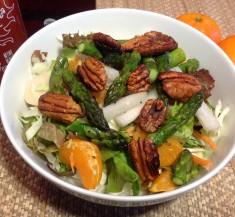 Hearts of Palm, Jicama and Asparagus Cabbage Salad