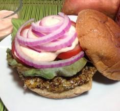 Chickpea and Sweet Potato Veggie Burger