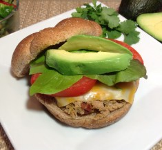 Green Chile and Chipotle Turkey Burger
