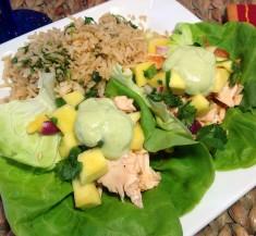 Salmon Taco Lettuce Wraps