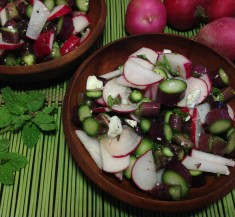 Asparagus and Radishes with Mint