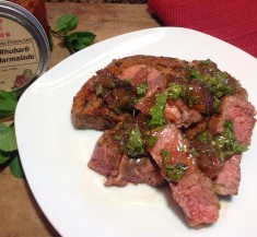 Jam the Lamb (Grilled Lamb Sirloin with Minted Rhubarb Marmalade)