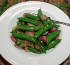 Radishes with Sugar Snap Peas and Dill
