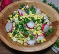 Corn and Radish Salad with Lime Dressing