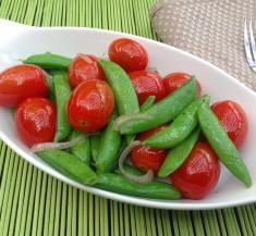 Sugar Snap Pea and Cherry Tomato Saute