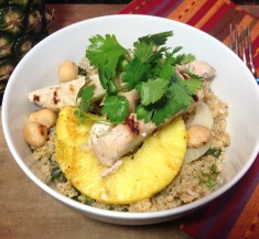 Pineapple Mojito Chicken Bowls