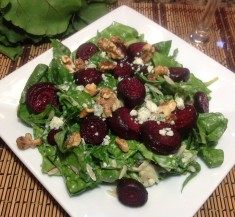Roasted Beet Orzo Salad with Blue Cheese and Walnuts