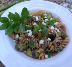 Lamb Pasta with Mint and Feta