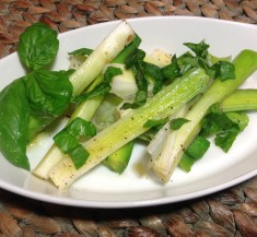 Grilled Leeks with Basil