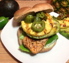 Tropical Salmon Sandwich