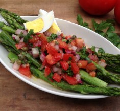 Asparagus with Catalan Vinaigrette