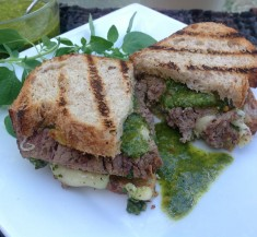 Steak Panini with Fontina Cheese