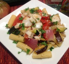 Cod and Pasta Ratatouille