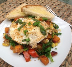Farmer's Market Hash with Kale and Bacon
