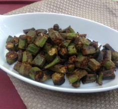 Crispy Oven Roasted Okra