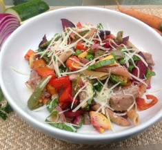 Pasta Primavera with Grilled Sausage