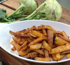 Chile Kohlrabi Fries
