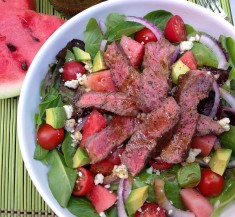 Steak, Tomato and Watermelon Salad