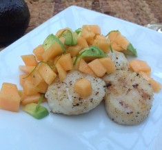 Grilled Scallops with Summer Melon Salsa