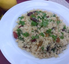 Herbed Couscous with Raisins and Pine Nuts