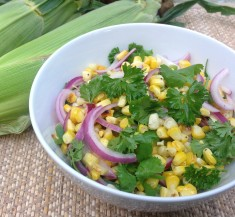 Charred Corn Salad with Fresh Herbs
