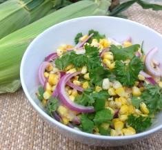 Charred Corn Salad with Fresh Herbs