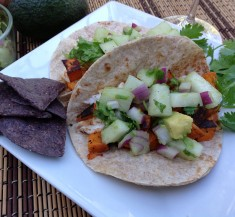 BBQ Tilapia and Sweet Potato Tacos