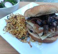 Caramelized Shallot and Mushroom Turkey Burger