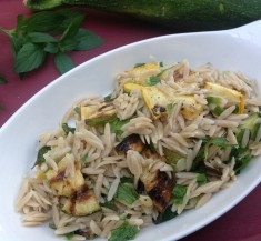 Herbed Orzo Salad with Grilled Zucchini