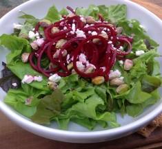 Beet Salad with Pistachios and Feta