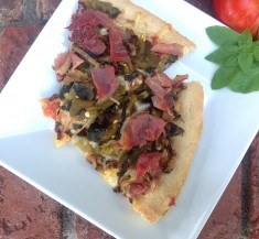 Hatch Chile and Proscuitto Pizza