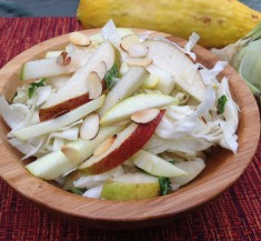 Cabbage and Summer Squash Pear Salad