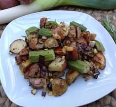 Roasted Potato and Okra Salad