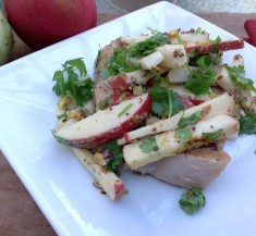 Pork Chops with Crunchy Apple Slaw