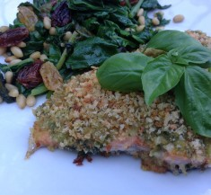 Pesto Panko Crusted Trout