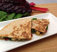 Swiss Chard and Bacon Quesadillas