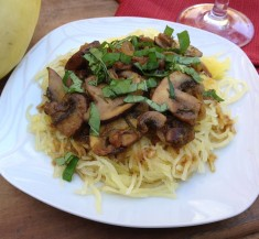 Spaghetti Squash with Mushrooms and Rosemary