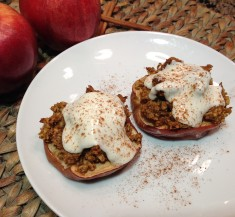 Baked Apples with Oatmeal Cookie Granola