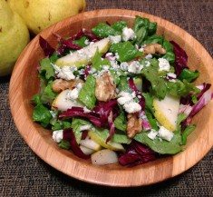 Radicchio Romaine Pear Salad
