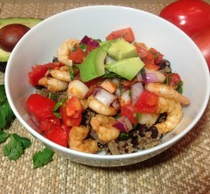 Shrimp and Cilantro Lime Quinoa Bowl