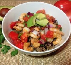 Shrimp and Cilantro Lime Quinoa Bowl