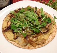Mushroom Tortilla Pizza