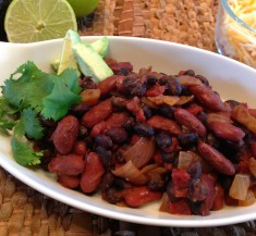 Mexican Beans with Avocado