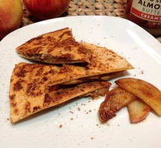 Apple Peanut Butter Quesadilla