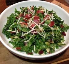 Kale Chopped Salad with Maple Almond Vinaigrette