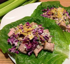 Tuna Lettuce Wraps with Horseradish Dressing