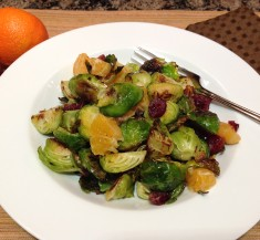 Roasted Brussels Sprouts with Oranges and Peanut Vinaigrette