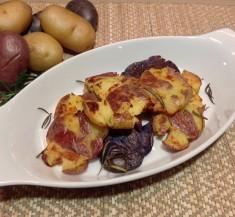 Smashed Rosemary Potatoes