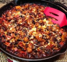 Butternut and Black Bean Enchilada Skillet